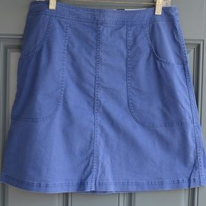 Distressed Blue Skirt w/Pockets by Boden Sz. 10